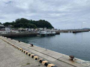 子供と釣り塩津漁港