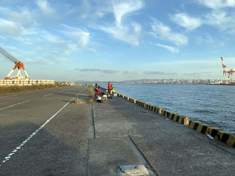 子供と釣り水水軒鉄鋼団地