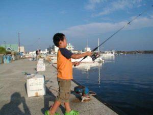 親子で釣り