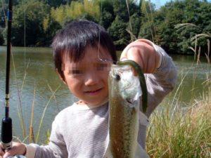 親子でバス釣り