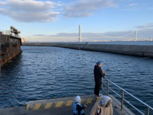 淡路島でアジ釣り
